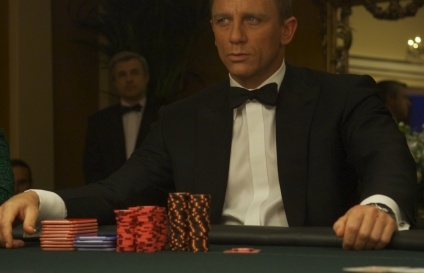 Daniel Craig in the main role of Casino Royal Movie